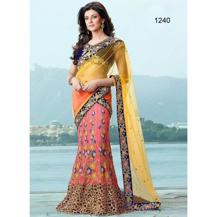 Designer Yellow And Pitch Net Lehenga Saree - Buy Yellow And Pitch Net Lehenga Saree Online at Best Prices in India | Vendorvilla.com at just Rs.3270/- on www.vendorvilla.com. Cash on Delivery, Easy Returns, Lowest Price.