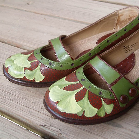 ginko painted shoes