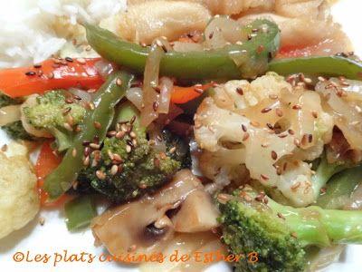 Les plats cuisinés de Esther B: Légumes sautés au wok