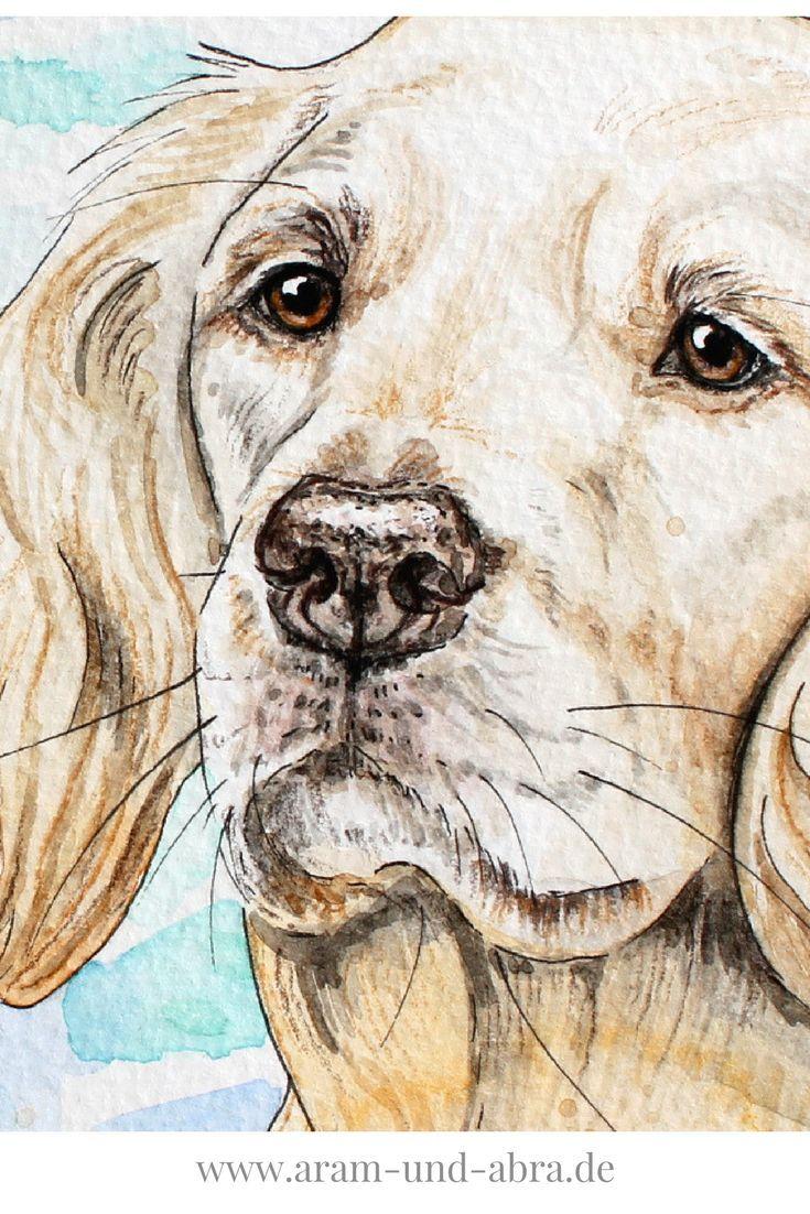 Hund Malen Lassen Zeichnung Aquarell Aram Und Abra Aquarell