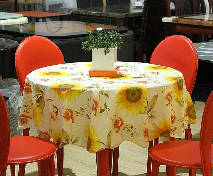 Cm Fashion Rural Style PVC Printing Round Table Cloth Rural Style  Thickening Waterproof And Oil Table Cloth