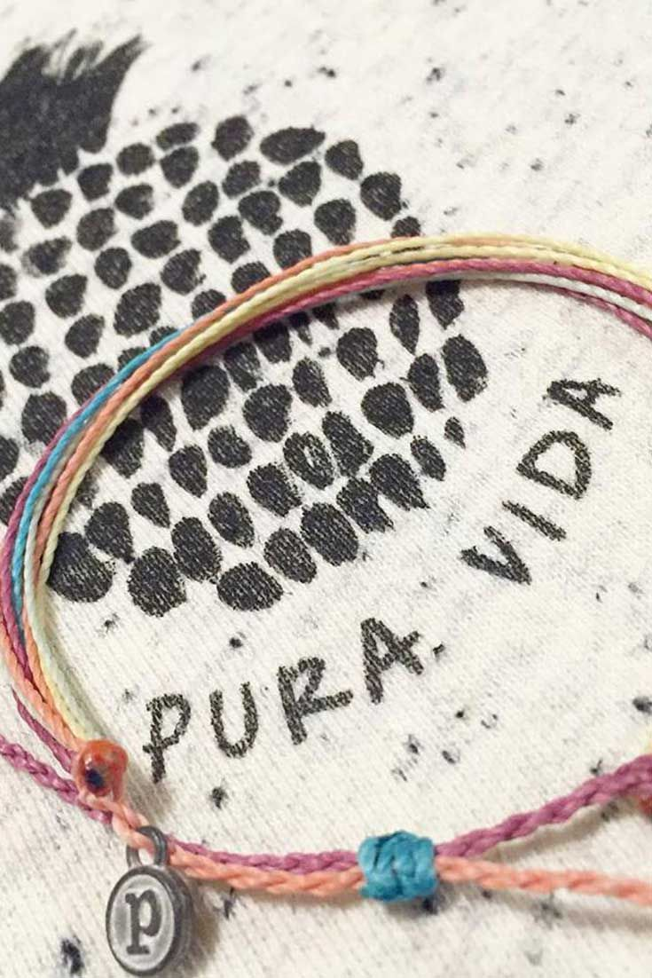 Every Pura Vida Clothing order includes a free assorted bracelet with purchase.