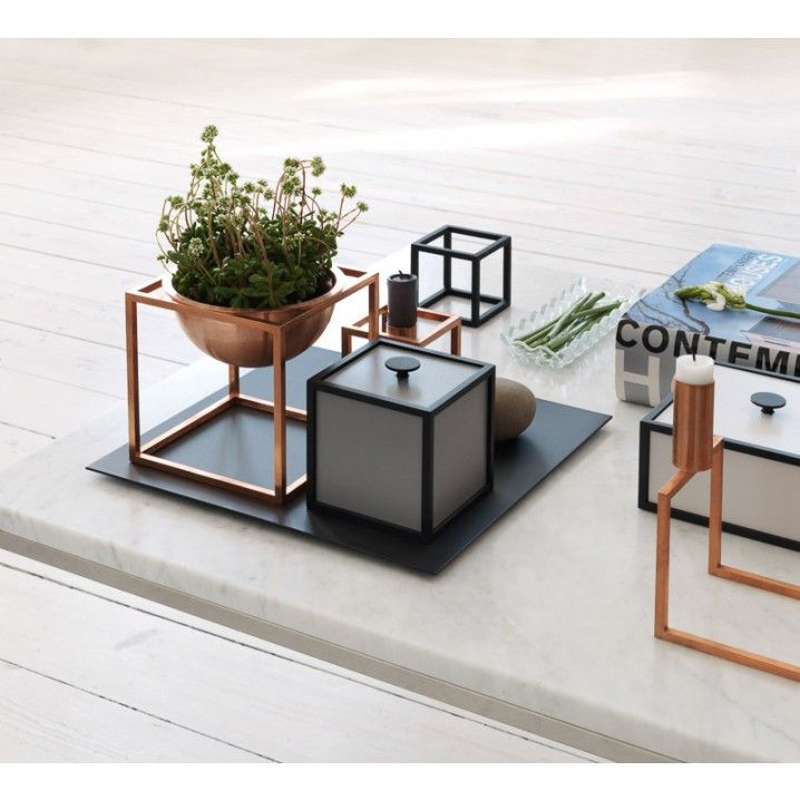Frame is a flexible storage solution comprised of square boxes in cubic frames. The individual combination options are endless. Frame is manufactured in Denmark and created with attention to detail. Frame unites functionality, quality and aesthetics.  Measurement: 10x10x10 cm Colour: Light Grey Material: Veneer / cdf / lacquered steel