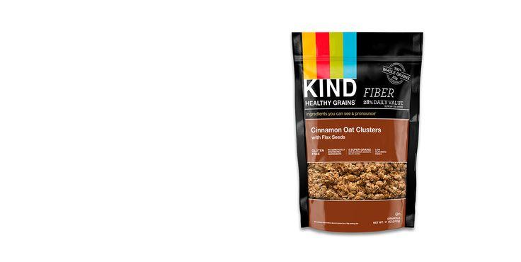 Cinnamon Oat Granola Clusters with Flax Seeds| KIND Snacks