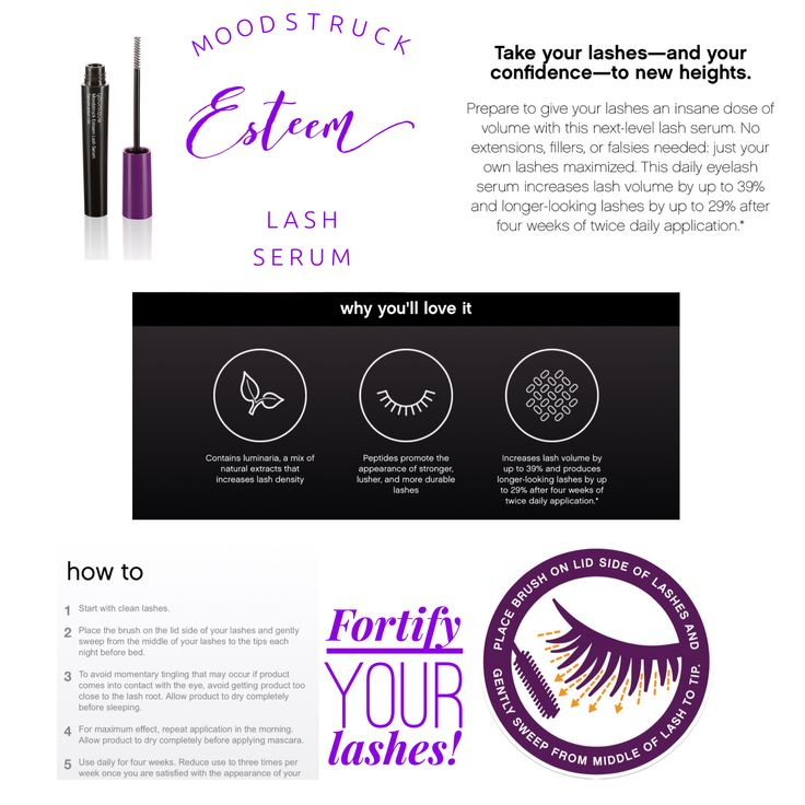 Fortify and help your lashes grow with Younique's Moodstruck Esteem Lash Serum.