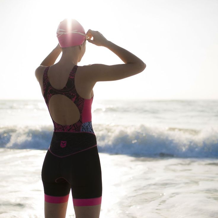 """Ready to conquer my day! Let's do it."" 🏊🚴🏃 #triathlon #woman #sport"