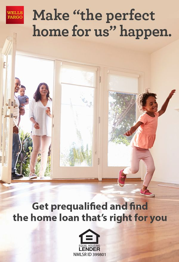 Get prequalified to find the home loan that's right for you and personalized support every step of the way. Talk to a Home Mortgage Consultant from Wells Fargo today.