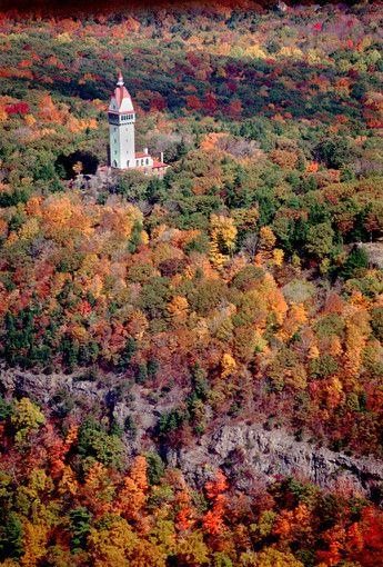 Talcott Mountain State Park/ Heublein Tower, Simsbury CT  http://www.ct.gov/deep/cwp/view.asp?a=2716&q=325272&deepNav_GID=1650