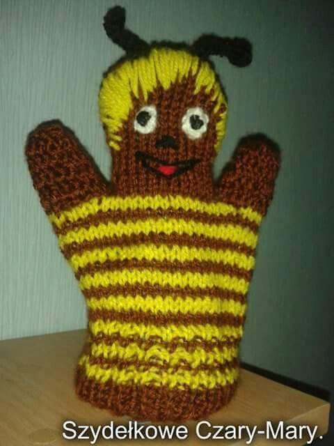 Pacynka #szydelko # maskotka # pszczolka Maja.