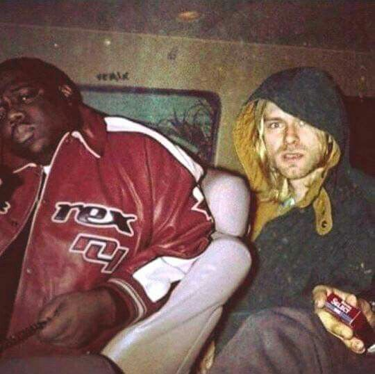Biggie Smalls and Kurt Cobain 1993