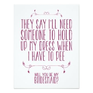 WILL YOU BE MY BRIDESMAID? | CARD 11 CM X 14 CM INVITATION CARD