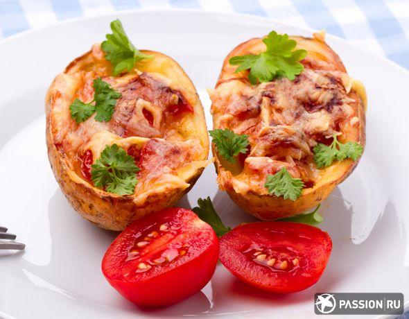 Дважды запеченный картофель с ветчиной - Предоставлено: Passion.ru
