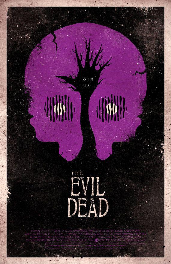The Evil Dead movie poster...looks kinda like a PURPLE skull