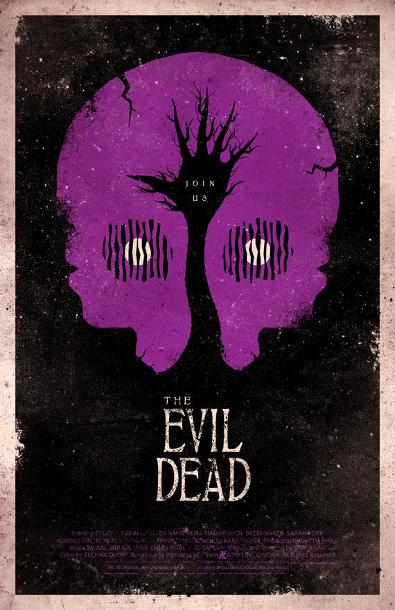 The Evil Dead movie poster...looks kinda like a PURPLE skull