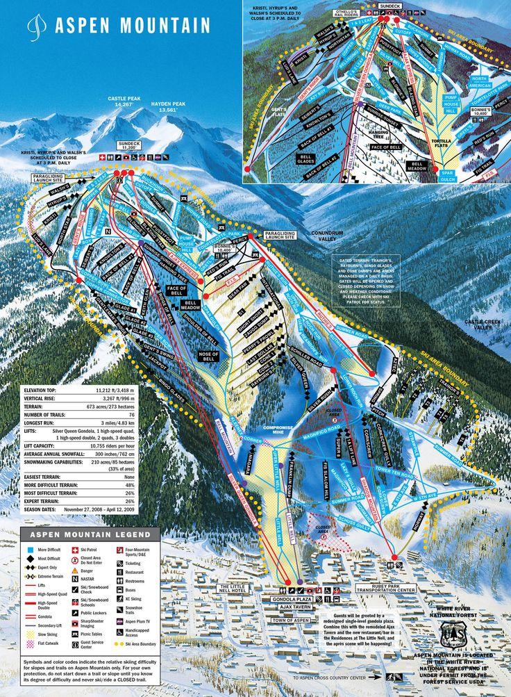 Aspen ski map 89 best Maps From