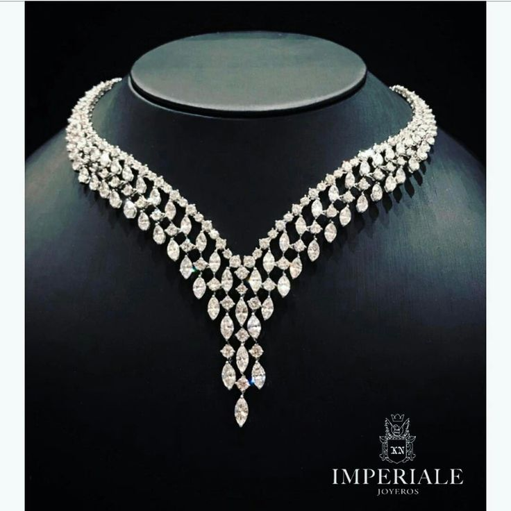 Each piece is a fine work of art. Diamond necklace exclusively at Imperiale. #GeneracionesDeExcelencia