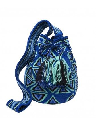 Miss Mochila Teal Mochila Tassel Bag