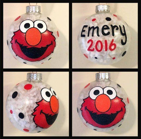 Elmo Hand Painted Ornament Elmo Gifts Sesame Street Gift