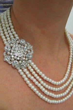 11 best best necklace for v neck wedding dress images on for Necklace for v neck wedding dress