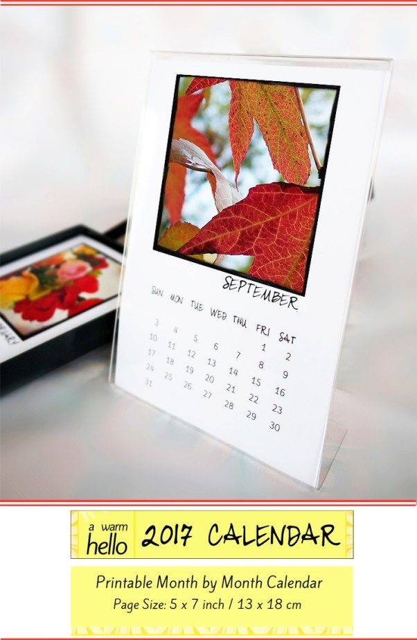 Come download your free 2017 Calendar at www.awarmhello.com! 5 x 7 inch calendar that you can print at home!