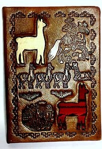 Mouse over image to zoom    Have one to sell? Sell it yourself  New Hand Tooled Leather Notebook Llama Handcraft Crafted Handmade Journal Diary