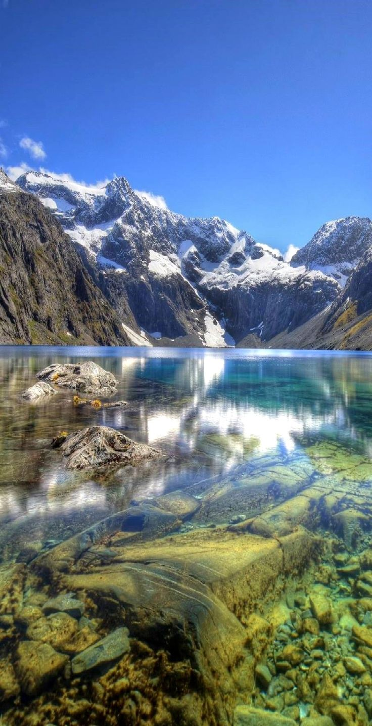 The Clear Water of Lake Erskine, Fiordland National Park, NZ