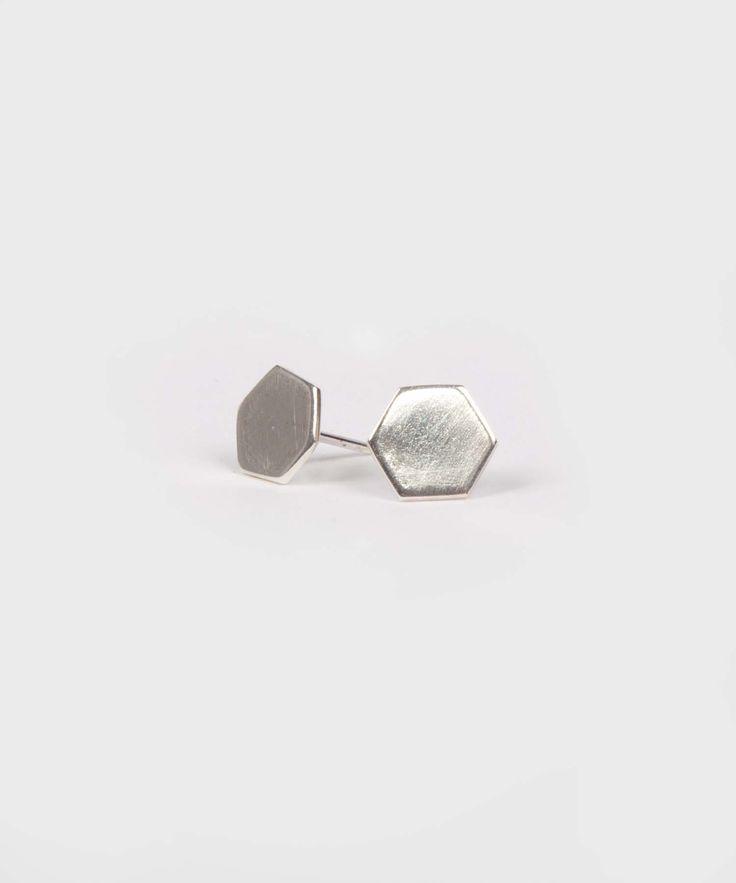 Stud Earrings    Small Hex