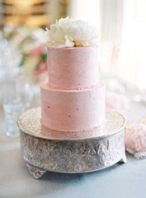Strawberry Pink Wedding Cake     photography by Jose Villa