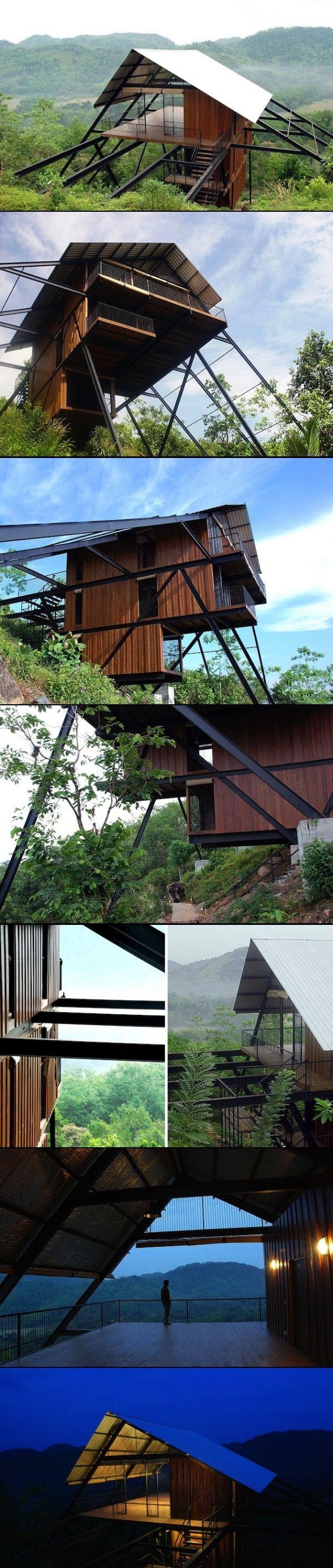 Sri Lanka Open Timber Bungalow on Stilts - created via http://pinthemall.net