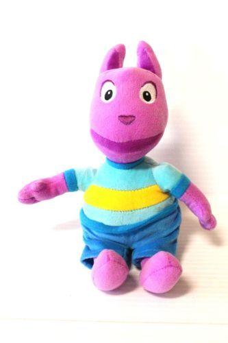 2011-AUSTIN-Backyardigans-plush-stuffed-animal-by-TY-Purple-Toy-collectible
