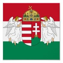 Hungarian flag and emblem