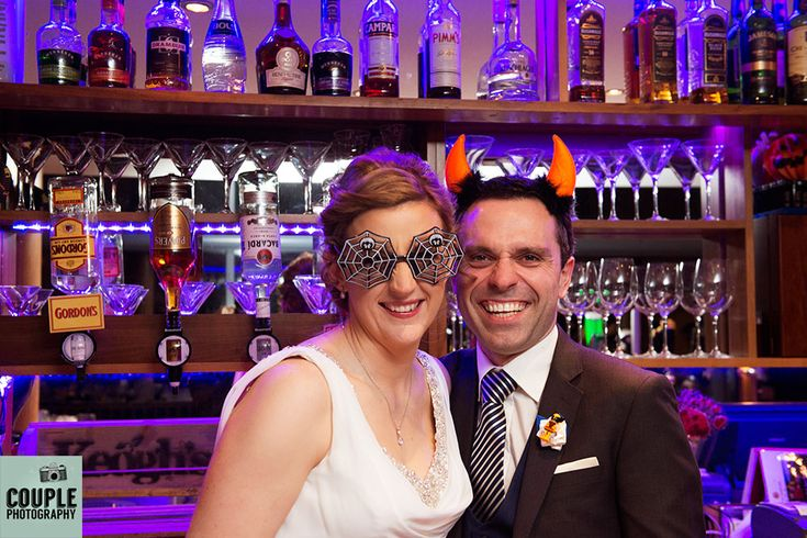 A Halloween dress up for the Bride & Groom. Wedding at Castle Dargan Hotel Photographed by Couple Photography. Ireland.