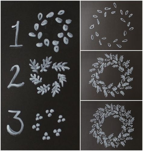 Spool and Spoon: How to: Draw a Chalk Art Wreath