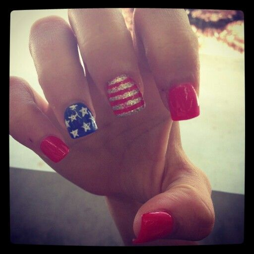 Red White Blue, Head To And Nail Design On Pinterest