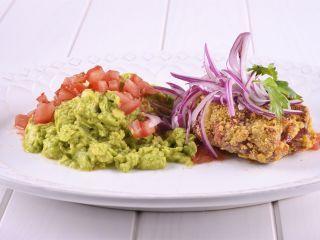 Lomo y salsa de guacamole