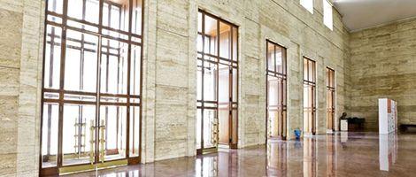 Saguão de entrada do prédio. Foto: José Cordeiro/ SPTuris.