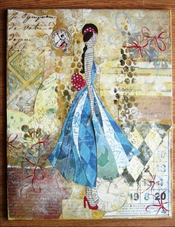 """Julie Nutting - I have her book, """"Collage Couture"""" and her work is amazing!"""