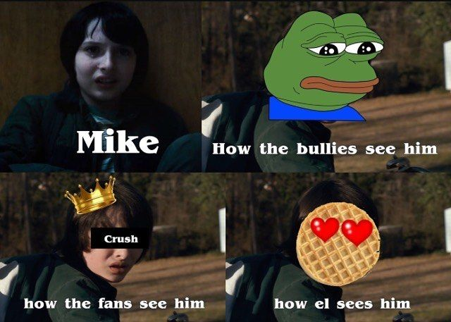 I love this edit!  so true haha ( idk who made this, got it off of Pinterest)  #strangerthings #mikeweeler #finnwolfhard