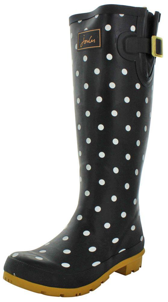 Joules Welly Print Women's Rubber Rain Boots Waterproof
