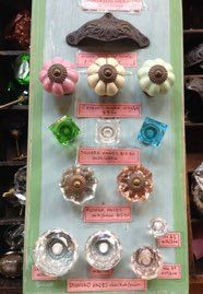 selection of handmade knobs from $9