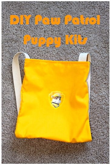 """Awesome backpack tutorial! My Emiline. Living. Kids. Crafts.: Paw Patrol """"Puppy Kit"""" Backpack Tutorial"""