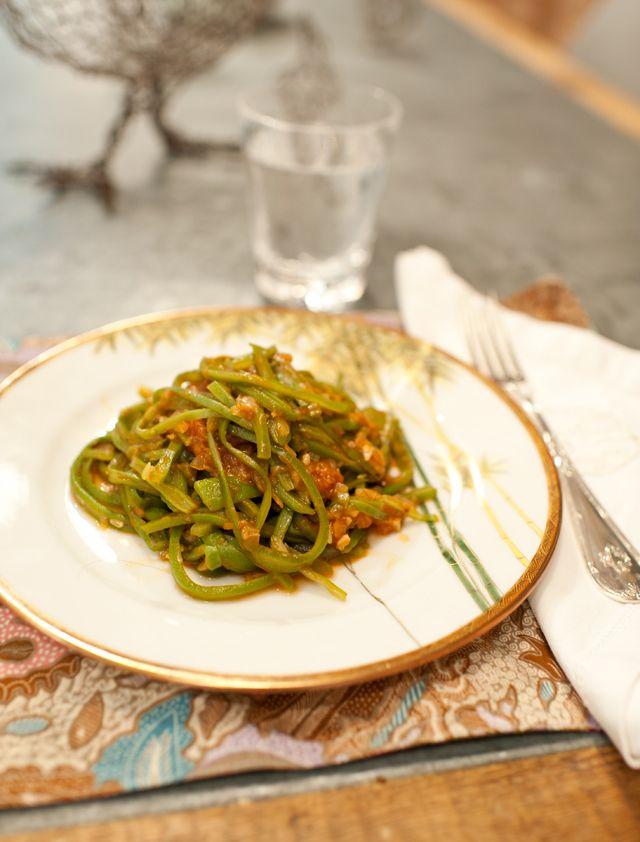espaguetis de judias verdes