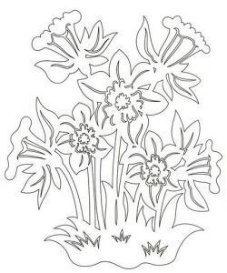 Цветы | Вытынанка