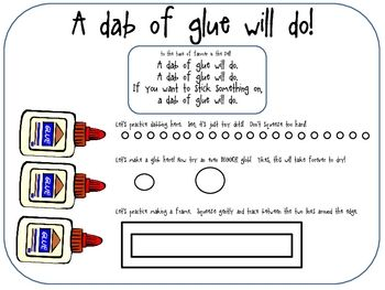 Teach them how to glue- FREEBIE!
