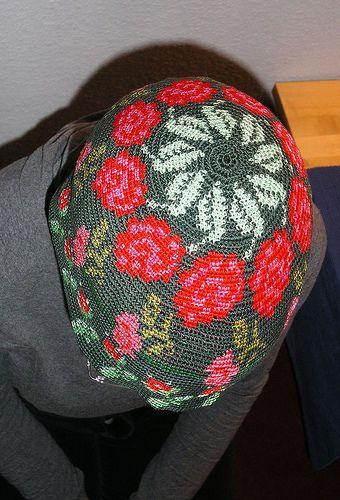 tapestry crochet hat