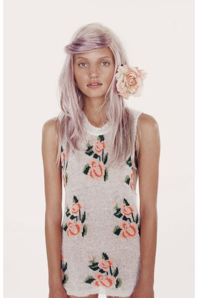 Wildfox dress & phenomenal hair
