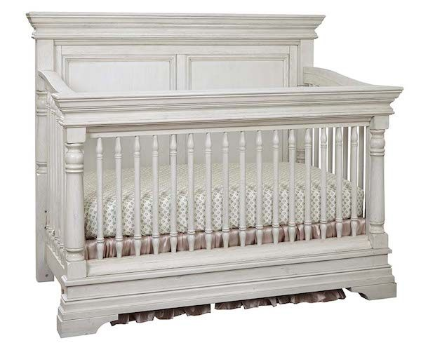 Kerrigan Convertible Crib in Rustic White  Specialty Baby Furniture from Stella Baby & Child at Sugar Babies!