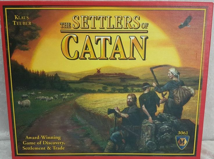 The Settlers of Catan Award Winning Game of Discovery Settlement and Trade 3061 #MayfairGames