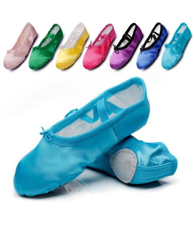 Kid Girls Satin Practise Ballet Dancing Yoga Shoes