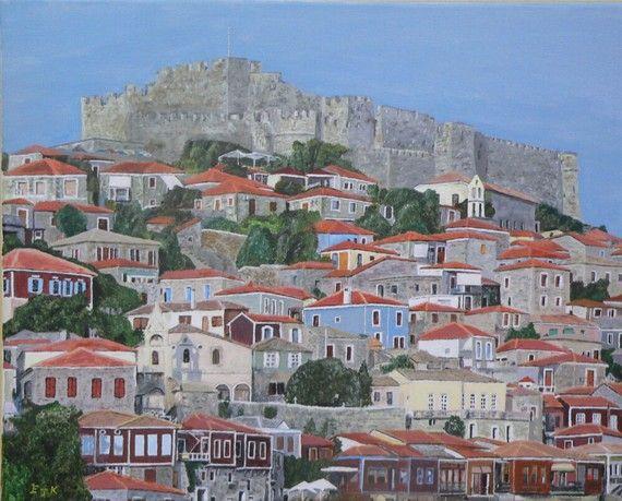 Molyvos II Lesvos Greece Eric Kempson by ellenisworkshop on Etsy